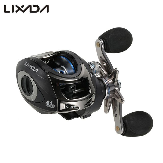 Lixada Fishing Reel 11BB Ball Bearings High Speed GT 6.3:1 Left/Right Hand Baitcasting Fishing Reel carretilha de pesca LMA200