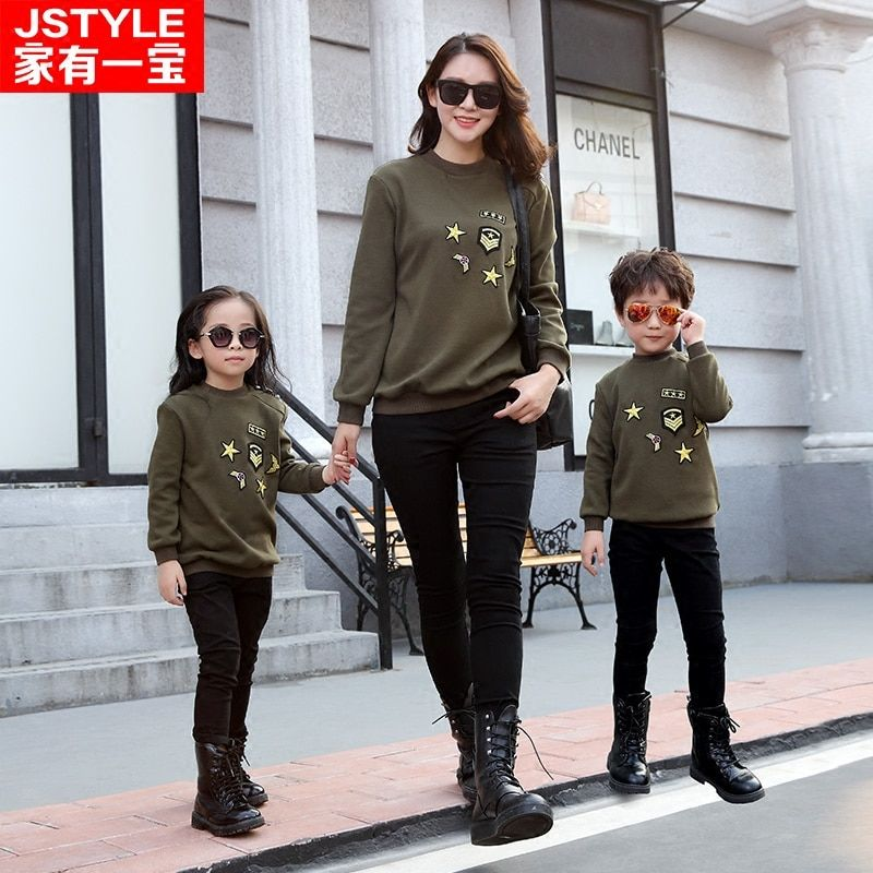 Christmas Sweaters Family Clothing Sweater 2016 Winter Family Look Matching Mother Daughter Father Son England Style Sweater