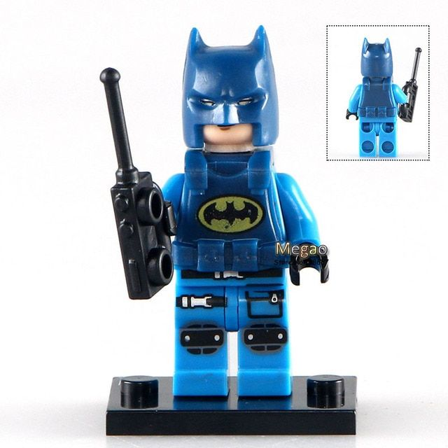 Building Bricks Single Sale PG182 Police Batman with Cellphone DC Super Heroes Batman Blocks Movies Toys for Children PG8047