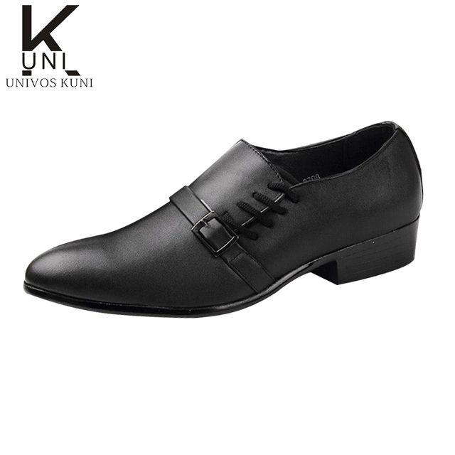 2016 New Fashion Brand Korean Leather Oxfords Shoes Men Business Office Sapatos Male Outdoor Walking Men's Shoes Hot Sale CX282