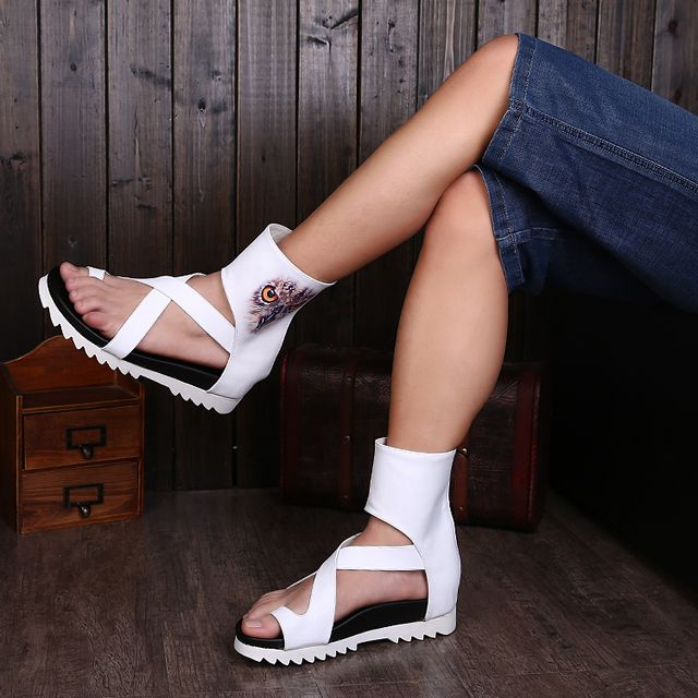 Fashion Gladiator Sandals For Men Leather Sandals Men Flat Summer Style Beach Gladiator Shoes Men Sandal Summer Flip Flops Men