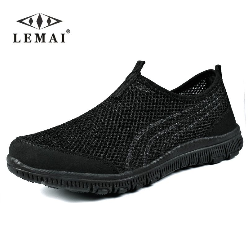 LEMAI 2019 Men Sneakers,Unisex Lover Shoes Summer Casual Men Shoe Breathable Network Shoes man Slip On Flats For Man 35-46