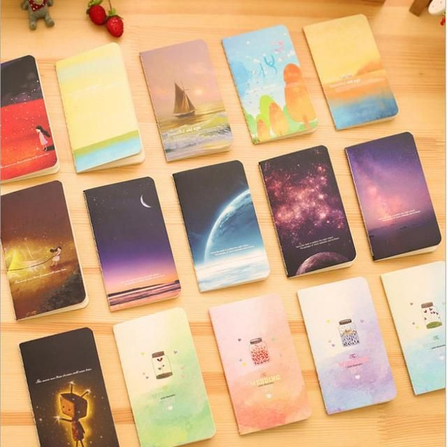 20pcs/lot Wholesale Galaxy Star Sky Notebook Diary Book Exercise Composition Notepad Escolar Papelaria Gift Stationery 01619