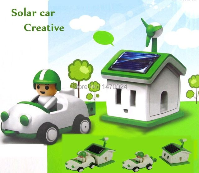 Funny Solar toy Let's Feel the Future Green Life Solar Rechargeable Kit!
