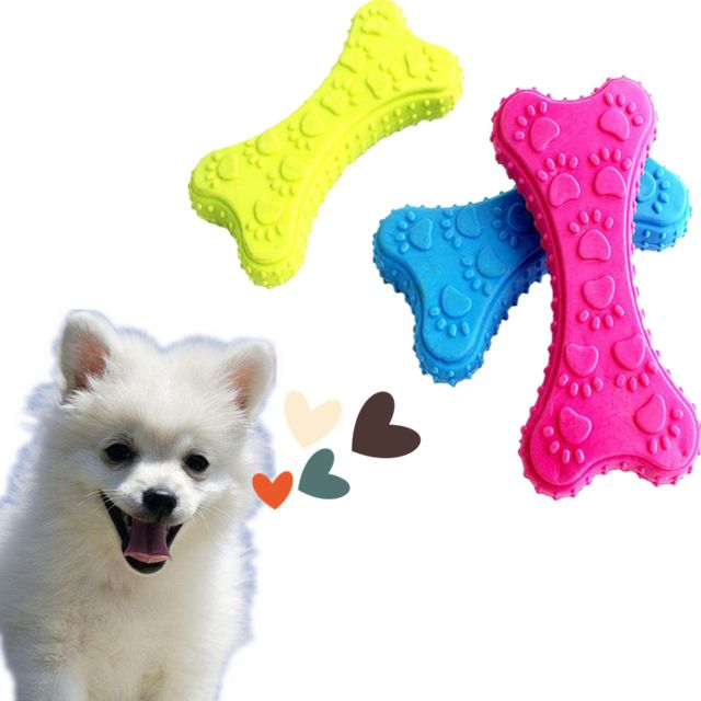 Dog Toys For Small Dogs 1 PC Pet Dog Puppy Rubber Dental Teeth Chew Bone Play Training Fetch Fun Chew Toys Wholesale JA1