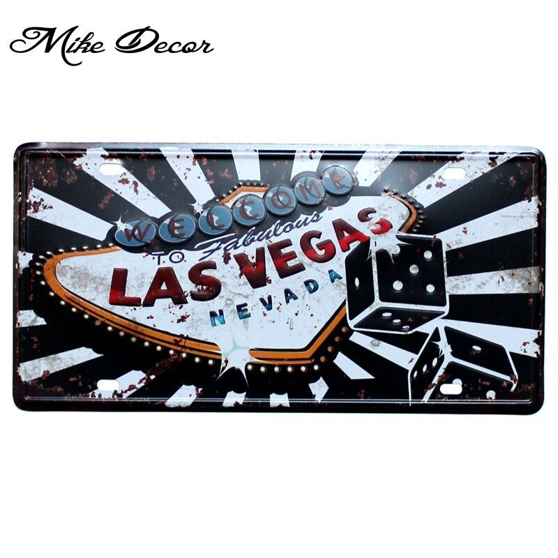 [ Mike86 ] LAS VEGAS Best Selling Classic painting Home decor Retro Gift Metal sign Pub decoration D-473 Mix order 30*15 CM
