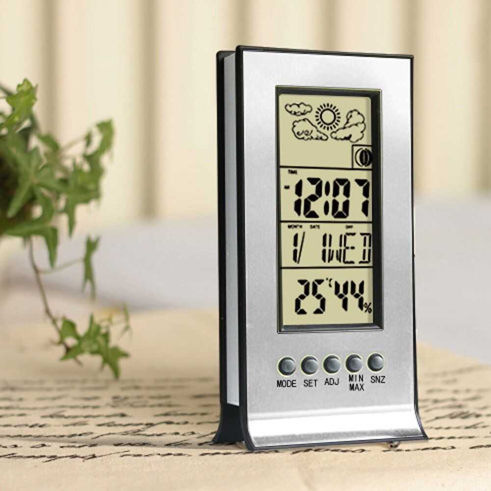 Digital Professional Room Thermometer Weather Station Wireless Indoor Outdoor LCD Wall Clock Hygrometer