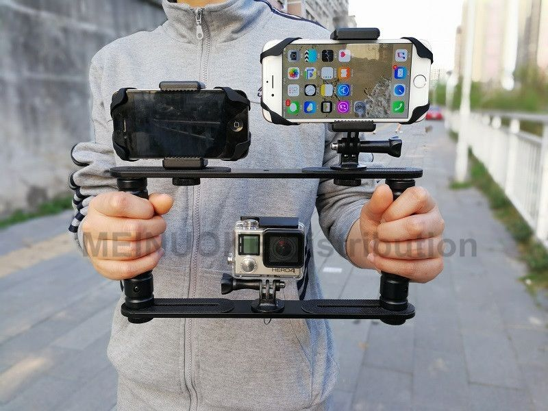 Handheld Video Stabilizer Gimbal Handle Steadicam Rig for Gopro Hero5 4 3+3 Session SJCAM XIAO Yi Camera, Camcoders, Smartphone