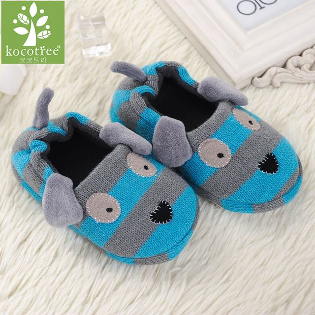 2018 Winter 1 to 6 years old kids slippers boy and girl household cotton shoes good quality keep warm cartoon children shoes