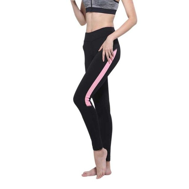 Women High Elasticity Leggings Casual Dry Spell color High Waist Elastic Waist Trousers