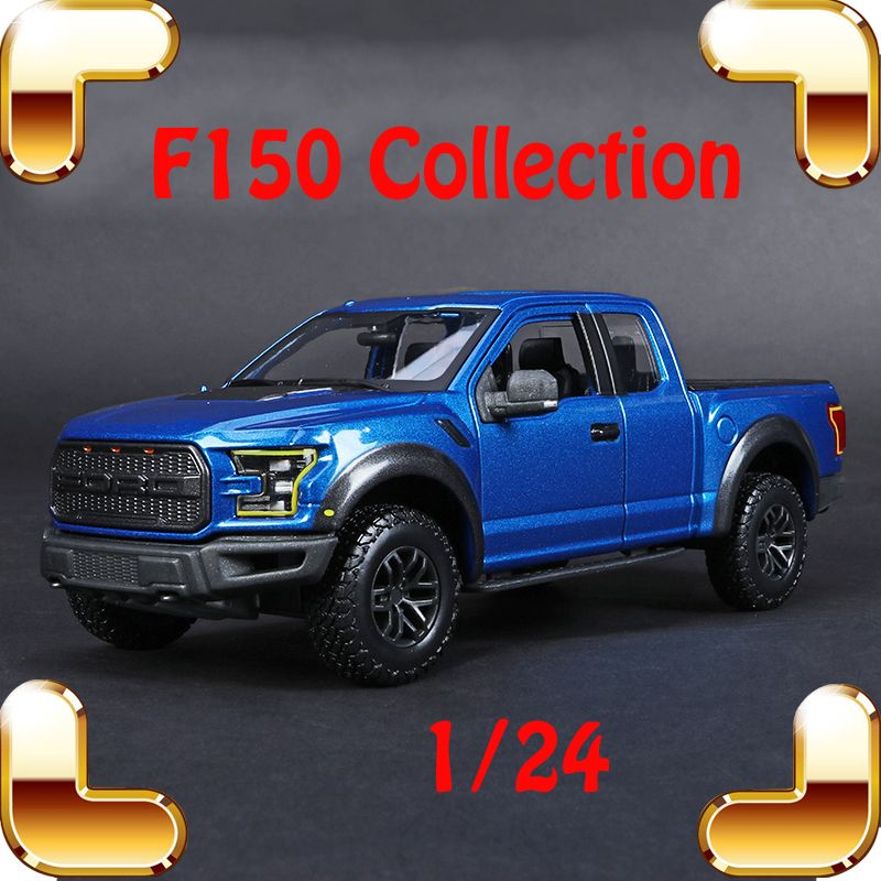 Christmas Gift F150 1/24 Metal Model Truck Vehicle Car Collection Alloy Diecast Big Model Scale Toys Luxury Present Table Top
