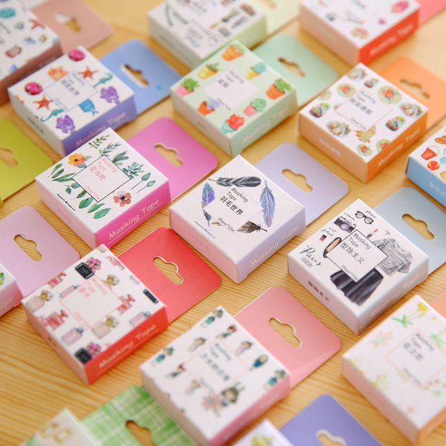 Japanese Washi Tape Decorative Tape Decorative Tapes Scrapbook Paper  Masking Sticker Set Photo Album Washi Tape Set