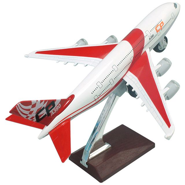 1:32 A380 Passenger Plane Model Alloy Toy Airplane Airbus Acousto-Optic Pull Back Gifts For Children High Simulation 21CM Kids