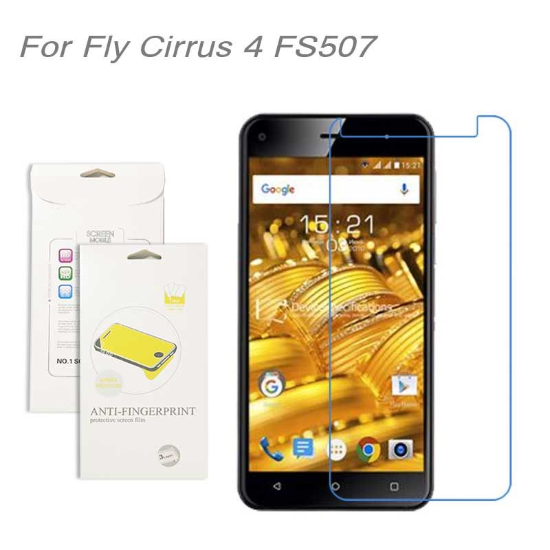 For Fly Cirrus 4 FS507 film, 3pcs/lot High Clear LCD Screen Protector Film Screen Protective Film Screen Guard For fly FS507