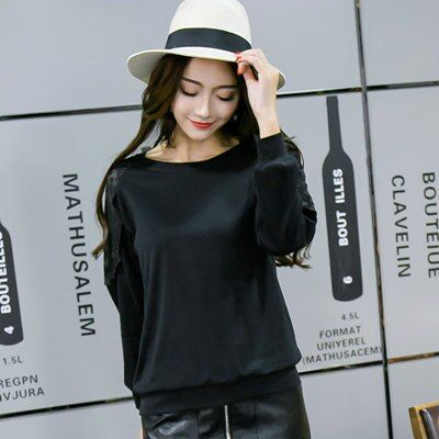 Good quality new autumn round neck was thin attractive women bottoming shirt cotton T-shirt large size clothing