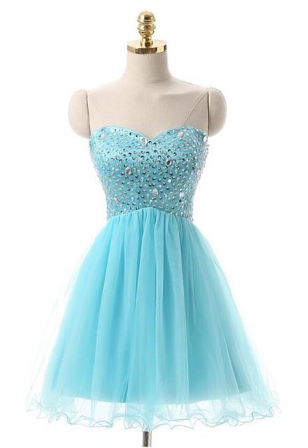 free shipping New high-end women's wholesale sexy sequined halter Strapless applique lace tutu Homecoming Dresses02