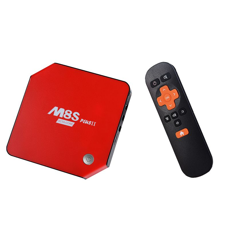 M8S PLUS II Android 6.0 Amlogic S912 Octa Core TV Box 3GB 32GB Gigabit 2 Wifi Bluetooth 4.0 Kodi H.265 4K17.0 Smart TV Box