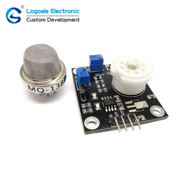 MQ-138 qualitative detection, semiconductor heating MQ138 VOC HCHO formaldehyde volatile organic gas sensor module