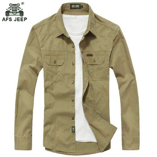 Free shipping Size M-3XL High quality Summer men's military uniform style men Casual long sleeved shirt leisure  shirt 70hfx