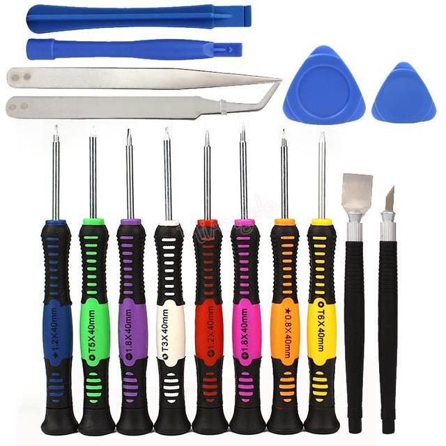 Universal 16 in 1 set Opening Pry Repair Tool Kit cellphone Screwdrivers Set Kit hand phone repair tool For Samsung /HTC/ iPhone