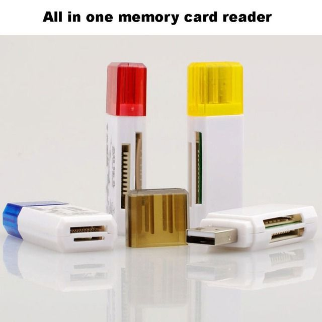 High Compatibility /Retail USB 2.0 All in One Multi Card Reader,TF/ MS/M2/TF/ TFHC TFXC Micro TF Memory Stick M2 hot ca24