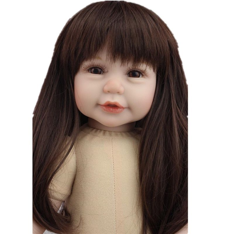 New Design Silicone Reborn Dolls Naked Doll Girl 50cm,Lifelike Baby Reborn Unpainted Doll Kit Newborn Toys for Kid Free Shipping