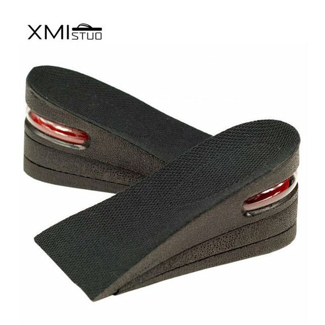 Half size 3 Layer Man 6cm (2.5 inches) Increase Height Insole Taller Pad Ergonomic Design foot arch support Arch support insoles