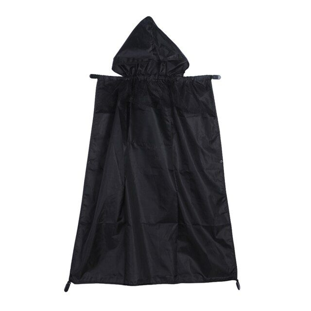 Baby Carrier Cloak Mantle Cover Baby Windproof Suspender Backpack Carrier Cover Baby Rainproof Cloak Black Baby Carrier