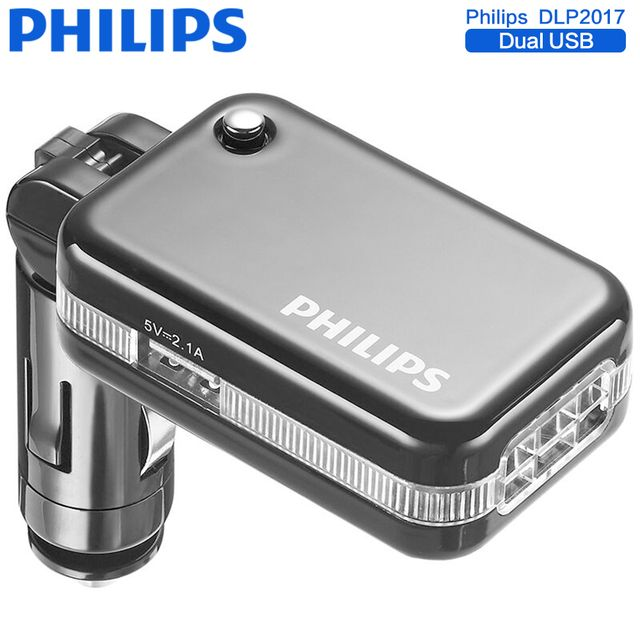 Philips Anion Air Cleaner Car Charger Universal For iPhone 5s 6s Samsung S7 Xiaomi Huawei Phones Car Cigarette Lighter Adapter