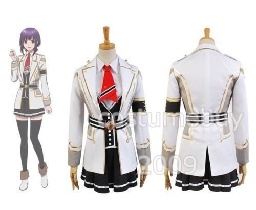 Anime Kamigami no Asobi Yui Kusanagi Sets Uniform Cosplay Costume any size PSP Game
