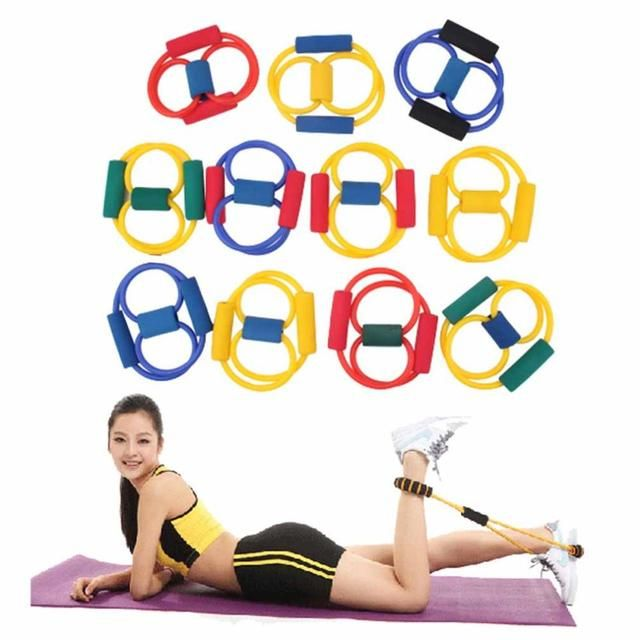 YHX YHX 2016 NEW arrival  2016 1pcs 8 Type Resistance Sports Expander Rope Workout Exercise Yoga Tube