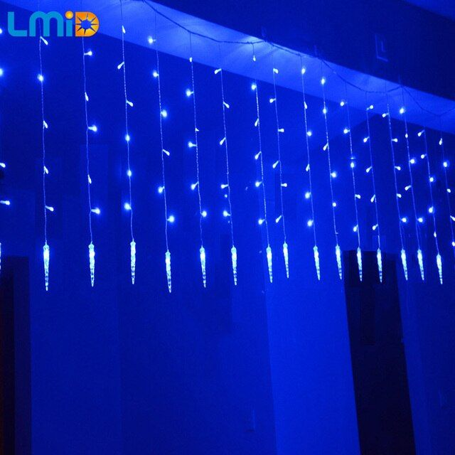 LMID 2M*0.6M 60LEDs Icicle LED String Light Warm White Fairy Light Holiday Light For Party Christmas Garland Wedding Decoration