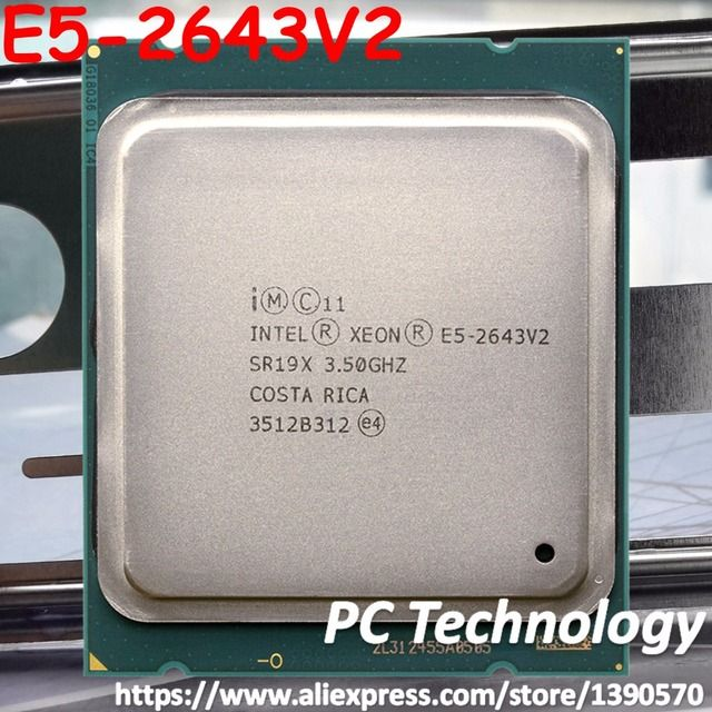 E5-2643 V2 Original Intel Xeon E5-2643V2 CPU 6-cores 3.50GHZ 25MB 22nm LGA2011 E5 2643V2 processor 1 year warranty free shipping