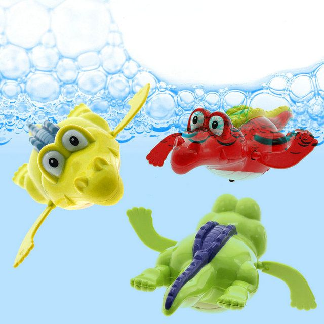 Swim Crocodile Wind-up Chain Clockwork Baby Kid Bathing Toy For Bathroom Gift No Harm to Children Classic Toy