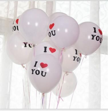 12inch I LOVE YOU Print Wedding Birthday Latex Globos Balloons For Lover Valentine Days Decorate Balloon Toys