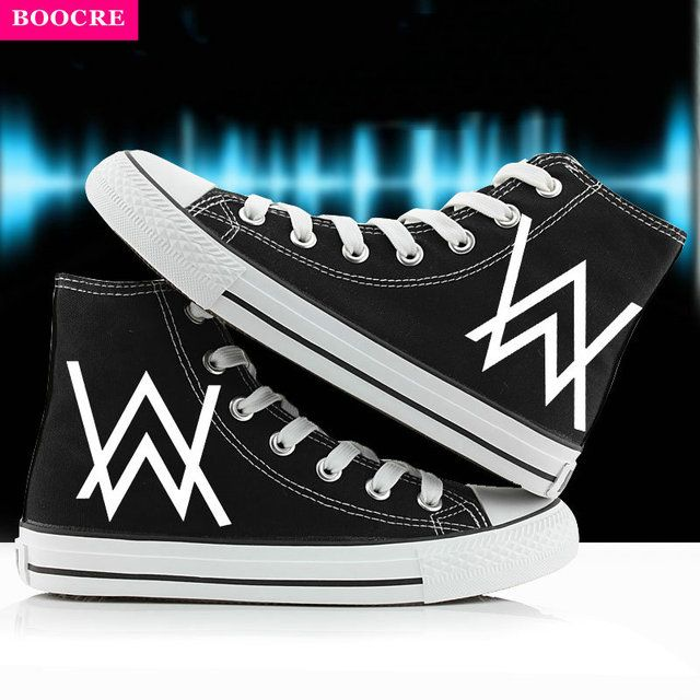 BOOCRE Anime Animation Music DJ Divine Comedy Alan Walker Faded Cosplay Shoes Lovers Shoes Women And Men