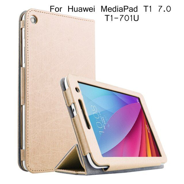 Folding Stand Flip Leather Case For Huawei T1-701u Case Tablet Pc Cover For Huawei T1 7.0 T1-701u Case + Screen Protector