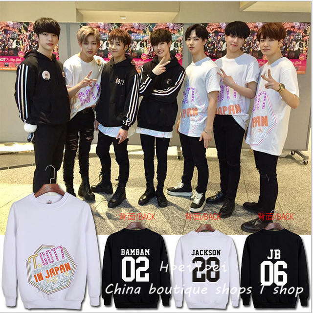 GOT7 jb just right kpop hoodie concert album conjunction Japan around should wear Neck Girl women hoodies sweatshirts
