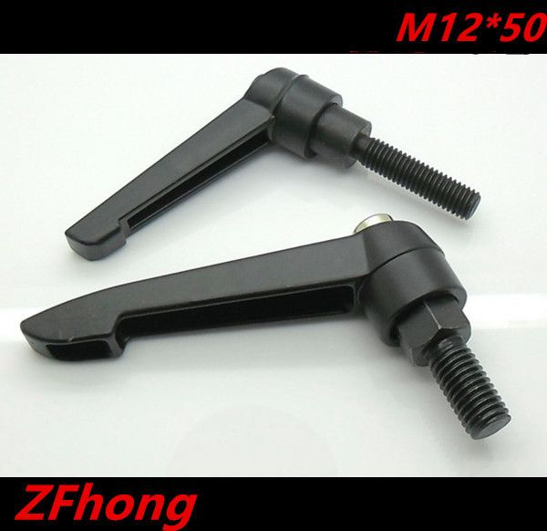 2pcs M12*50 Clamping Lever , 12mm Adjustable Handle screw