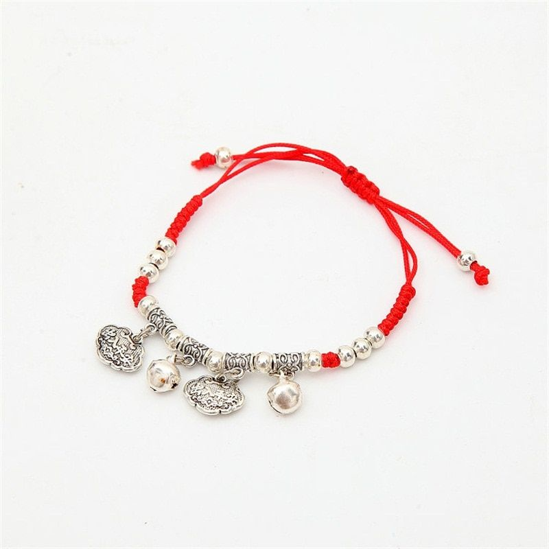 7 Colors Austrian Crystal jewelry thin red thread string rope Charm Bracelets for women Fashion summer style
