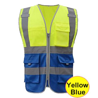 SFvest En 20471 Men's blue safety vest fluorescent safety vest construction vest work vest free shipping