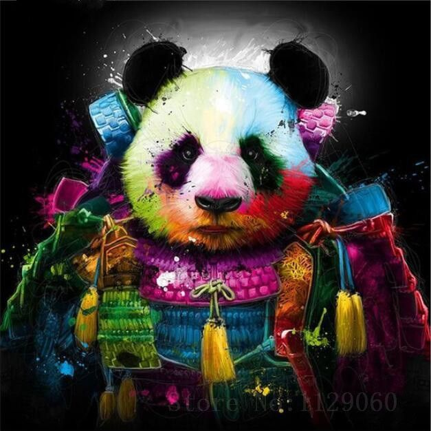 Diy Diamond Painting Colored Panda Diamond Mosaic Resin Lovely Panda Diamond Embroidery Cross Stitch Needlework Home Decoration