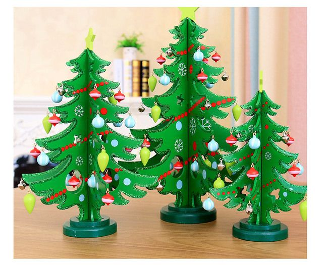 New style Christmas Decoration Wooden Christmas tree ornaments Christmas Ornaments for Tables The festival presents gifts