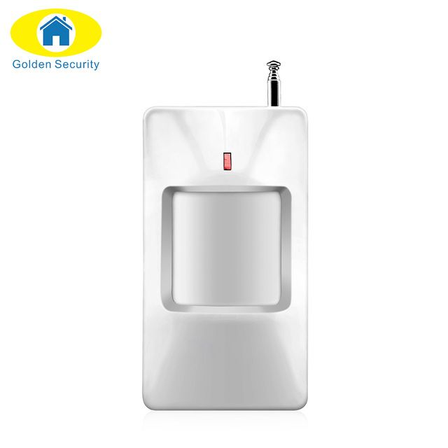 Golden Security Hot Sale 433MHz Wireless PIR Door Sensor Motion Detector For Wireless GSM/PSTN Security Alarm System Accessory