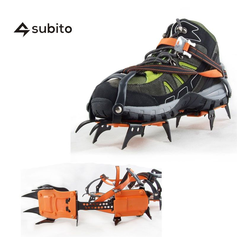 LUCKSTONE Ten Teeth Winter Hiking Climbing Crampons Snow Chains For Shoes Ice Shoe Spikes Snow Traction Ice Cleats