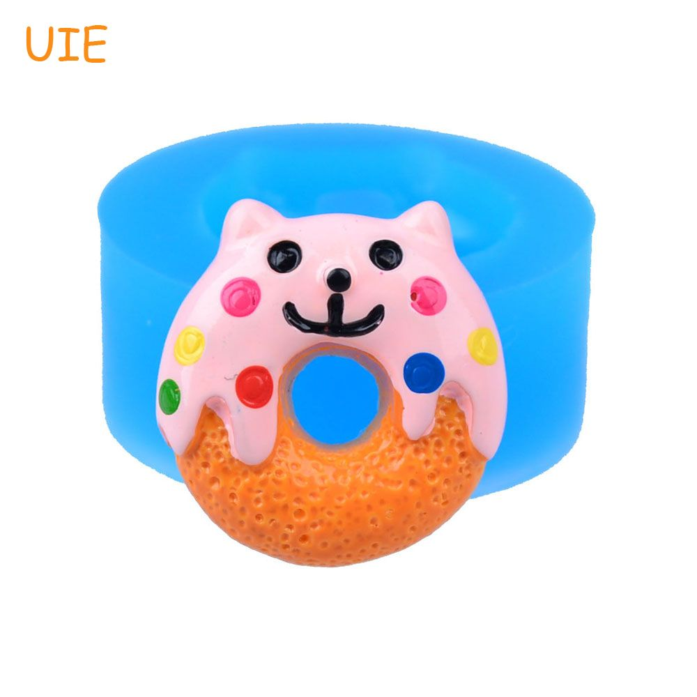 TYL013U 19.8mm Kawaii Cat Donut / Doughnut Silicone Mold - Fondant, Sugarcraft, DIY Biscuit Baking, Resin, Chocolate, Candy Wax