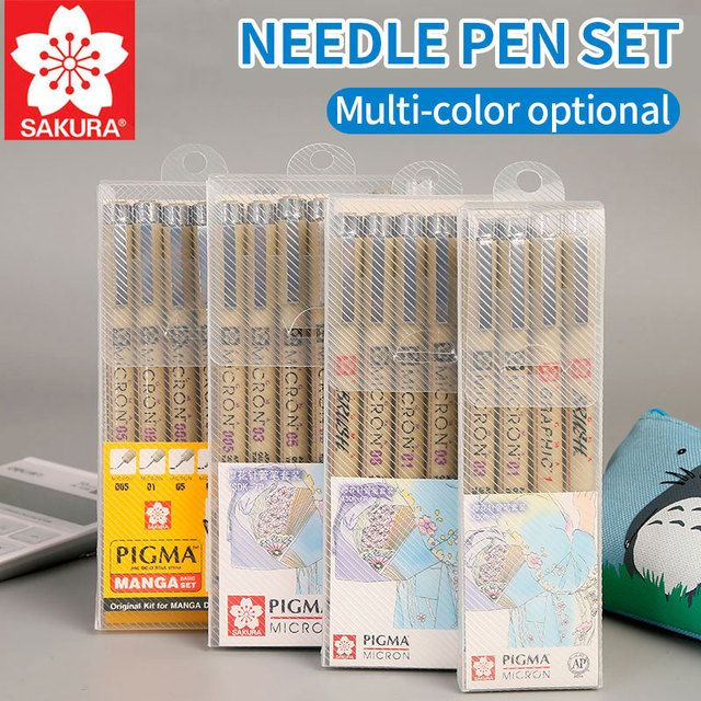Bgln Needle Pen Hand-painted Comics Design Sketch Needle For Drawing Pigma Micron Liner Brushes Hook Line Pen Art Supplies