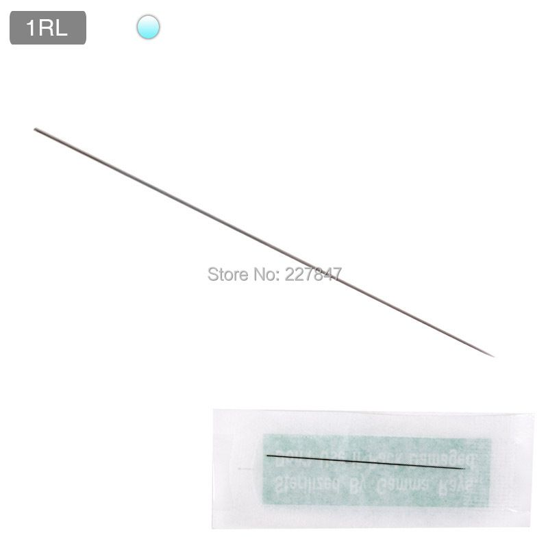 100pcs/lot 1RL Professional Eyebrow Tattoo Needle Disposable Microblading Lip Eyebrow Pen Machine Needles  TATTOO INK INK