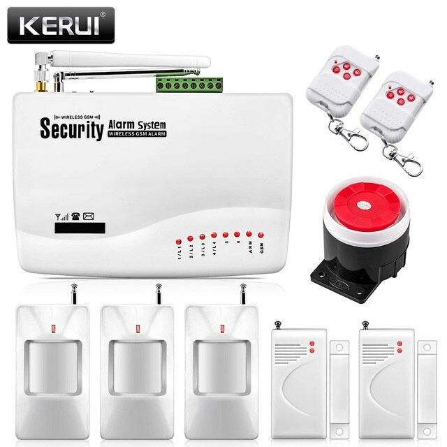 Home Voice Security Tri-band Antenna Wireless GSM Alarm System Dual Antenna with Russian Manual PIR Motion Sensor wireless alarm