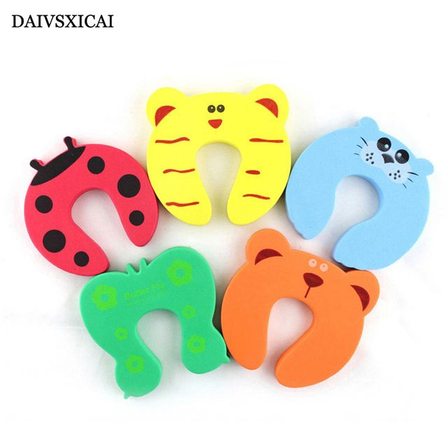 Daivsxicai  Animal Cartoon Baby Safety Door Stopper Baby Protecting Product Children Safe Anticollision Corner Guards 10pcs/lot